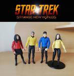 Star Trek: Strange New Worlds - custom DST figures by bobye2