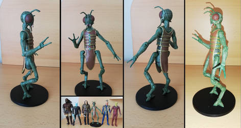 Star Trek - Xindi insectoid custom action figure