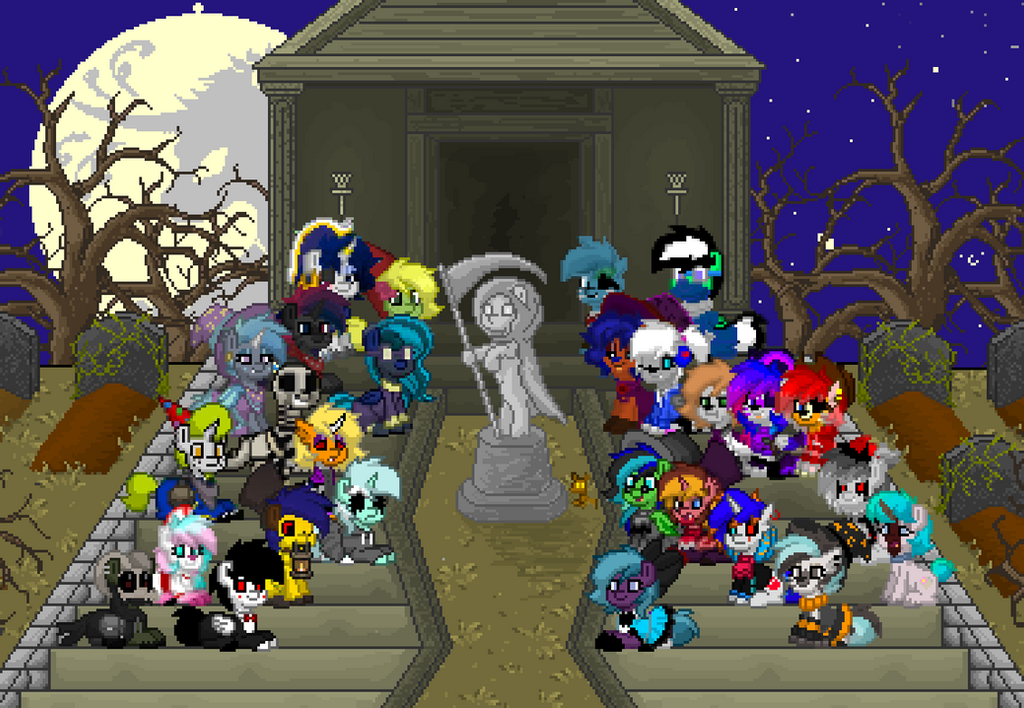 Pony Town Slobs Halloween Group Photo by Torpy-Ponius