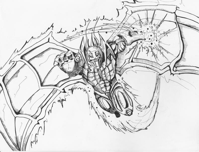 flying alien robot dude by darammmydude on deviantart