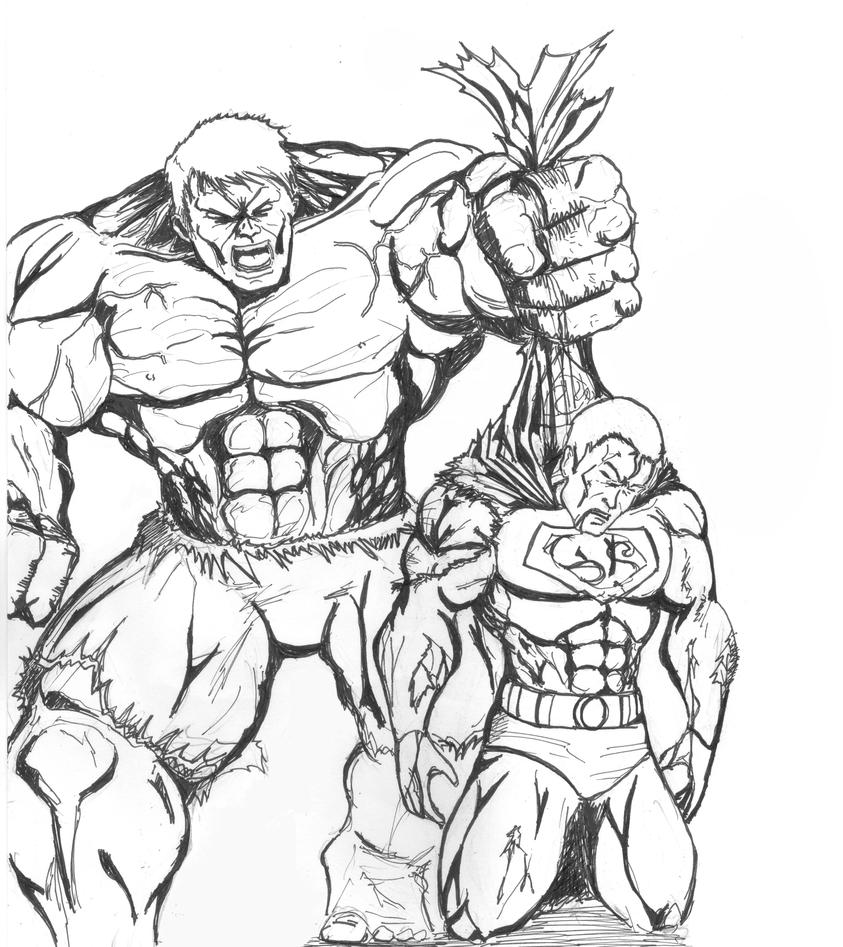 hulk vs superman coloring pages - photo#36