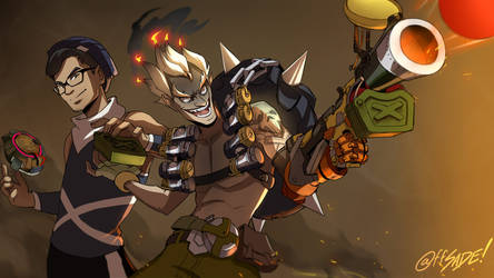 Commission - Junkrat and Nam by ffSade