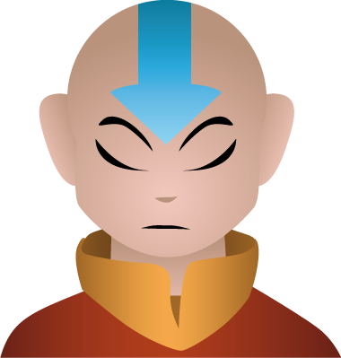 Aang portrait by AnneliLev