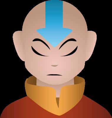 Aang portrait by AnneliLev