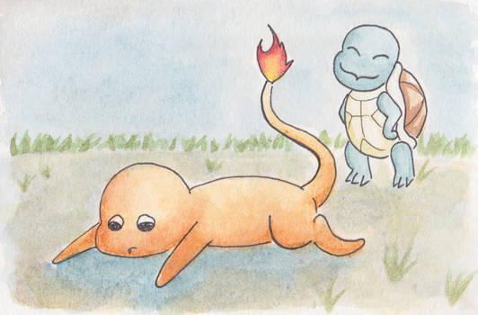 Squirtle vs Charmender