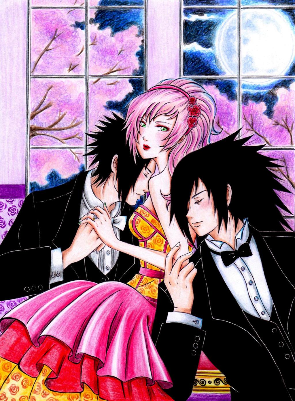 Sasuke, Sakura, and Madara by DesertRose69 on DeviantArt