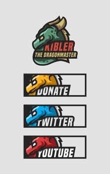 Kibler, the Dragonmaster Logo + Panels
