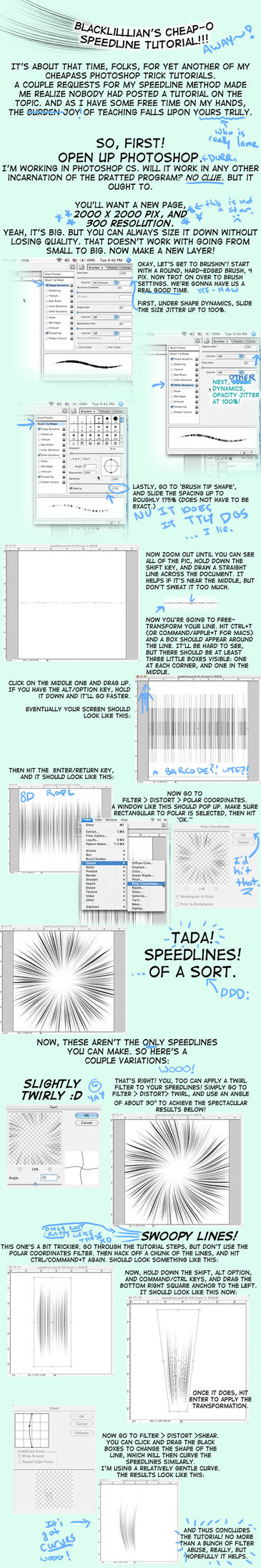 Speedline Tutorial by terriblenerd