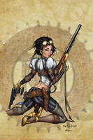 Lady Mechanika colored by alexasrosa
