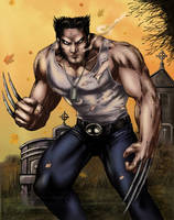 Wolverine colored by alexasrosa