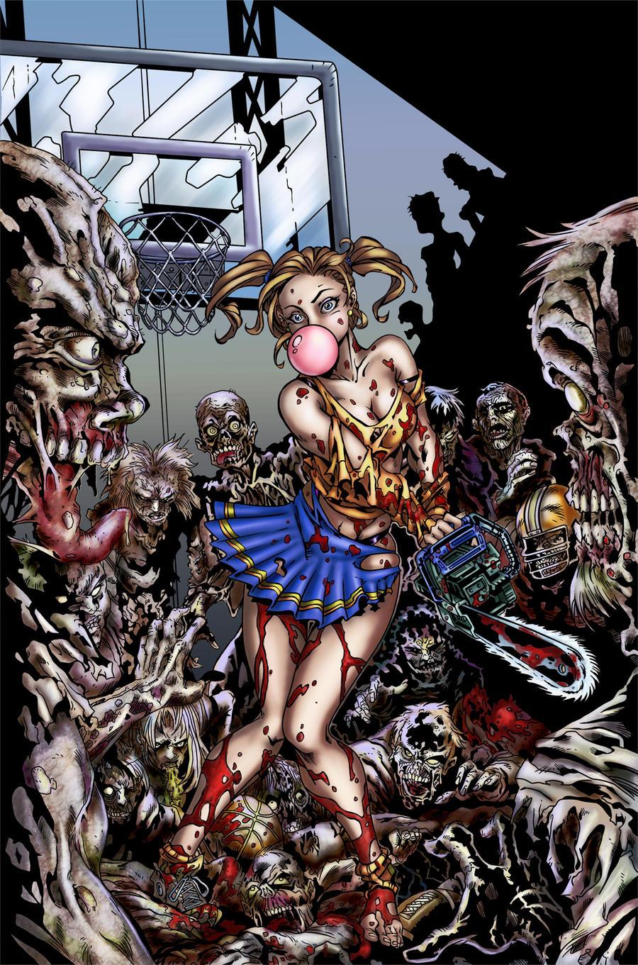 zombies vs nude cheerleaders