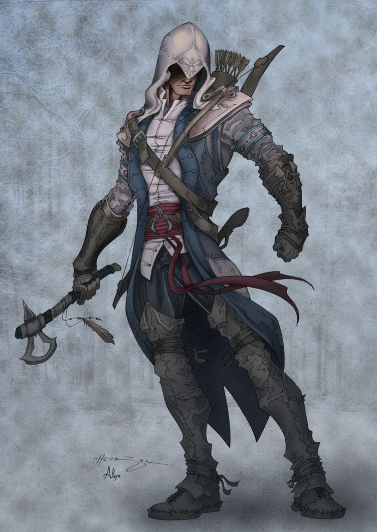 assassins creed 3 connor colored by alexasrosa on deviantart