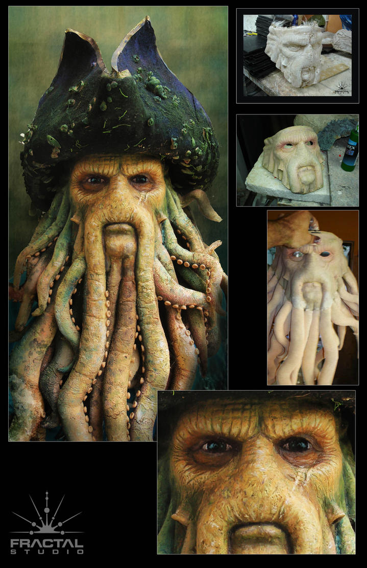 making of Davy Jones mask by studiofractal on DeviantArt