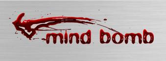 Mind bomb logo design by beargraffix
