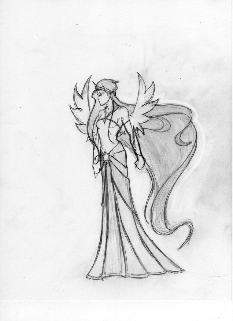 Princess Celestia sketch by echelonangel15