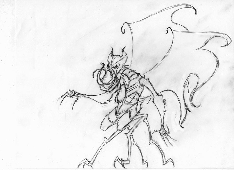 Hive Queen of the Malefice- True Form by echelonangel15