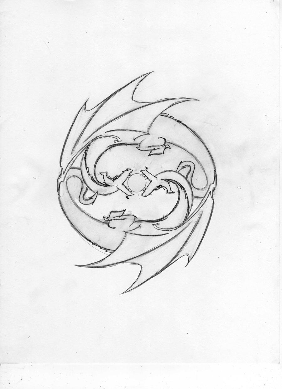 gemini dragon tattoo design by echelonangel15 on deviantart. Black Bedroom Furniture Sets. Home Design Ideas