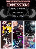 OFFICIAL PRICE SHEET by DeerintheMoon