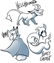 halloweenies ::WOLFING FREEBIES:: by DeerintheMoon