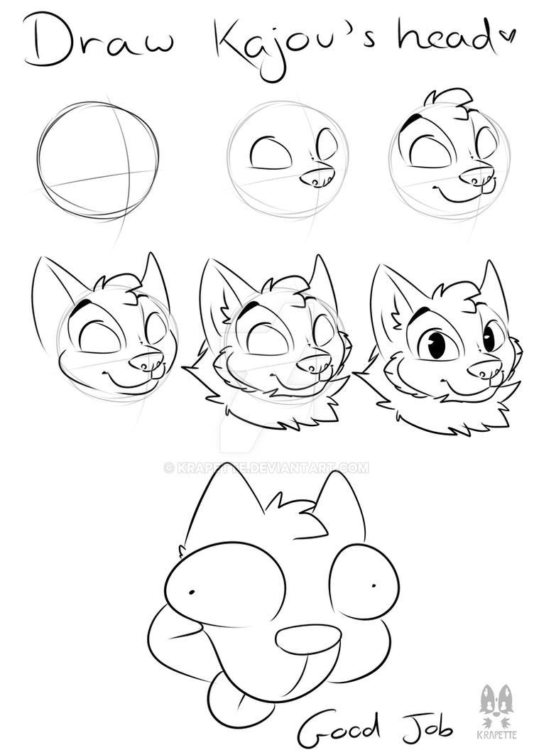 How To Draw A Dog Head Tutorial By Krapette On Deviantart