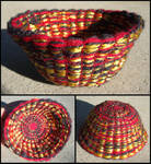 Red Gold and Black Basket