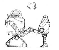 Robobrain Loves Protectron by pyromobile