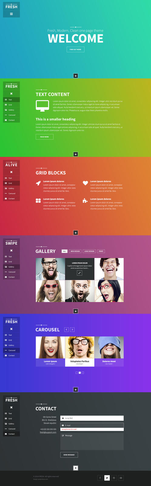 FRESH - boostrap template by jurajmolnar