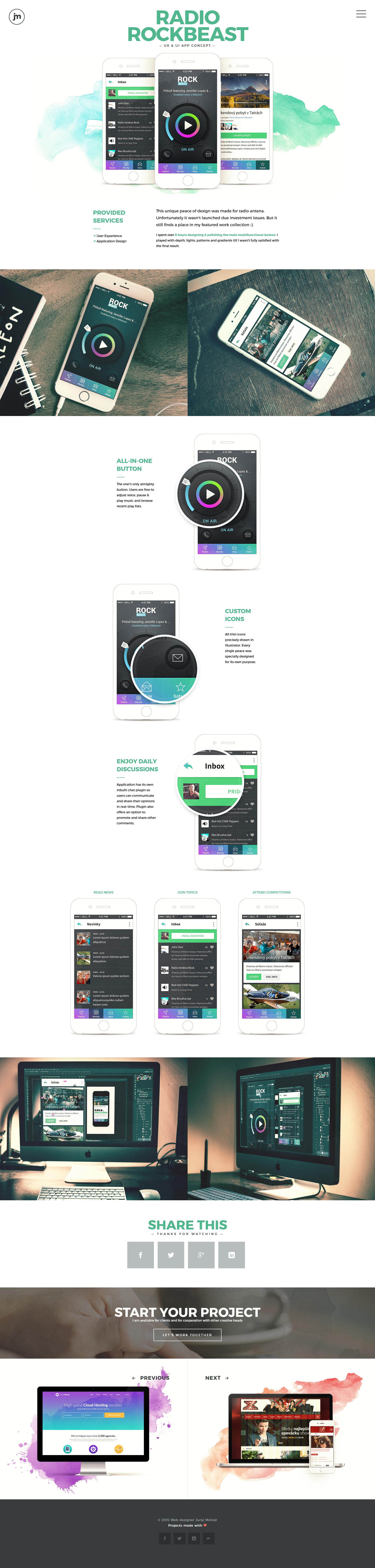 Rockbeast radio application by jurajmolnar