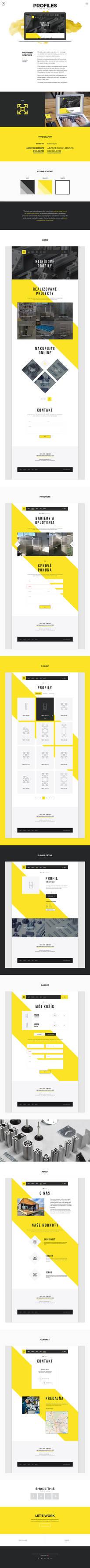 Web design projetc - Profiles