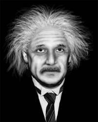 Practice drawing: Albert Einstein