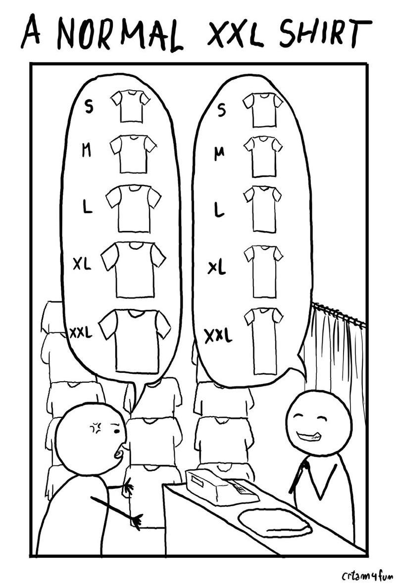 Normal XXL size shirt by crtam4fun