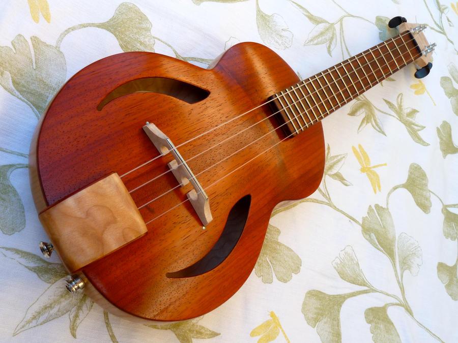 Archtop electric ukulele by thehappyukulele