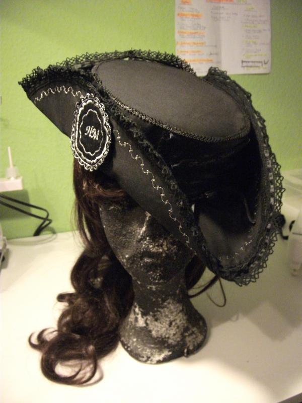 Pirate Lolita hat - Handmade by Kumamana