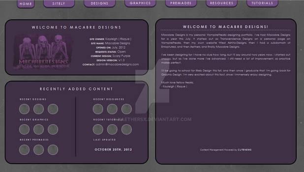 Website - Macabre Designs