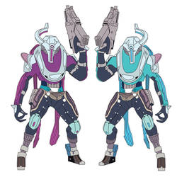 Vov and Vuv, the Flayer Twins