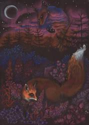 Twilight fox by MukilteoCasualtie