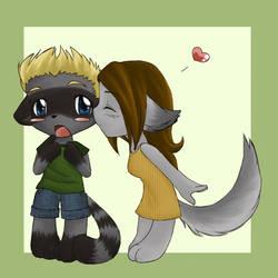 chibi kiss by nya-Natsuki