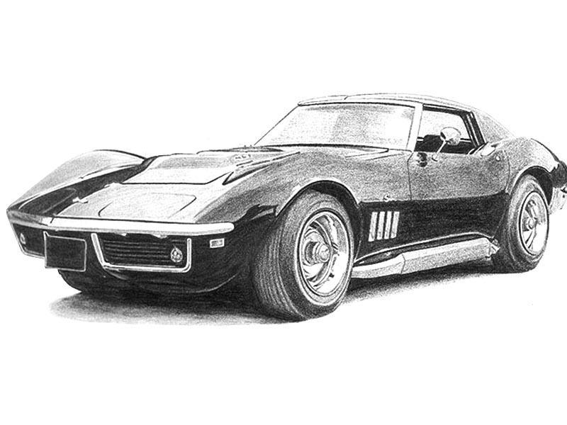1969 corvette stingray by teicart - Corvette Stingray 1969 Wallpaper