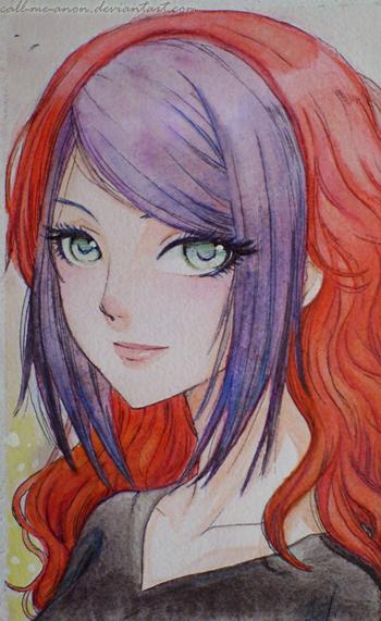 A Girl by rikurikuri