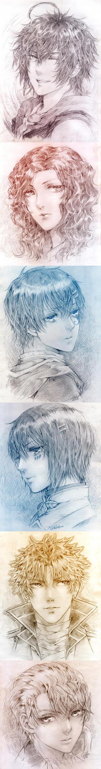 Headshot sketch by rikurikuri