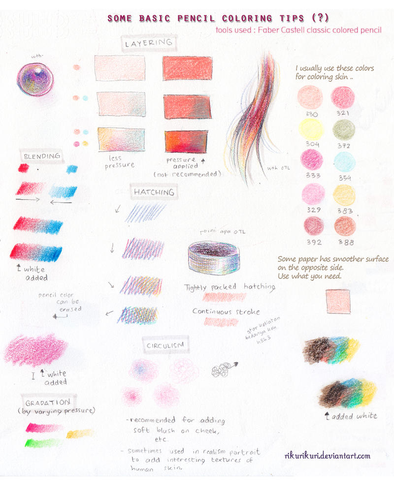 Tutorial  Pencil Color (basic) By Rikurikuri On DeviantArt