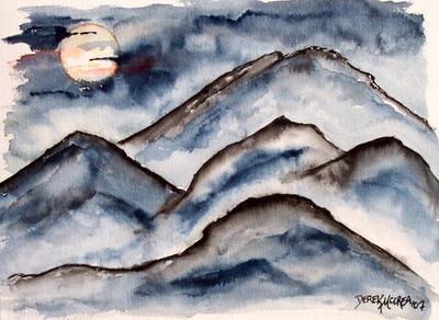 Mountains at Night by derekmccrea