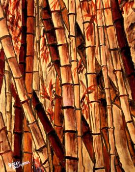 bamboo oriental oil painting by derekmccrea