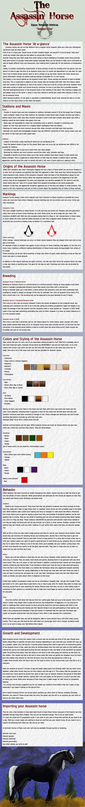 The Assasin Horse: Breed Sheet by PrimalInstincts