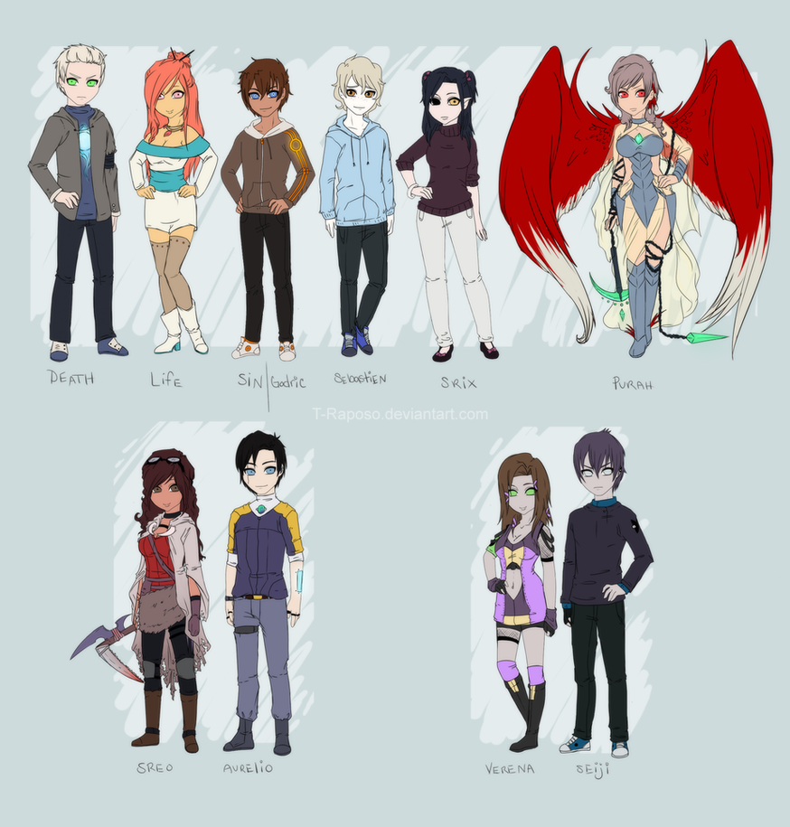 Characters by T-Raposo
