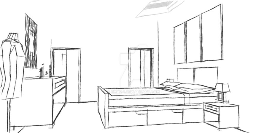 Master Bedroom Sketch By Emar 1 On Deviantart