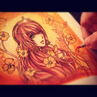 Persephone WIP by Fluorescence911