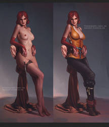 Triss Merigold - concept by Fluorescence911