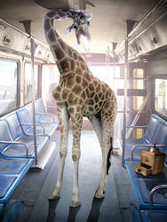 Crazy Bus Giraffe by MiaSidewinder