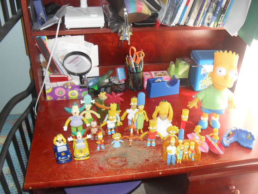 Simpsons merch group photo by Quacksquared